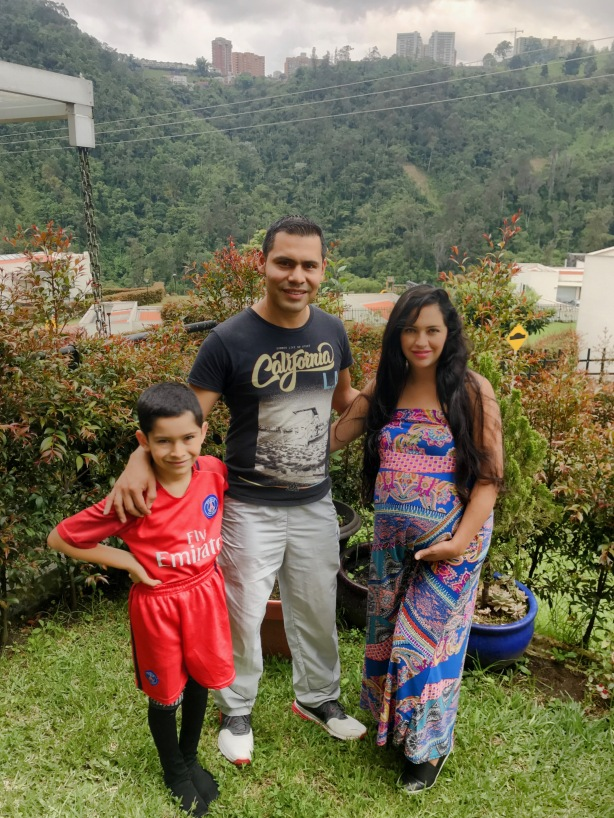 Luis, Kerly and their son David. Our friends from Manizales, Colombia