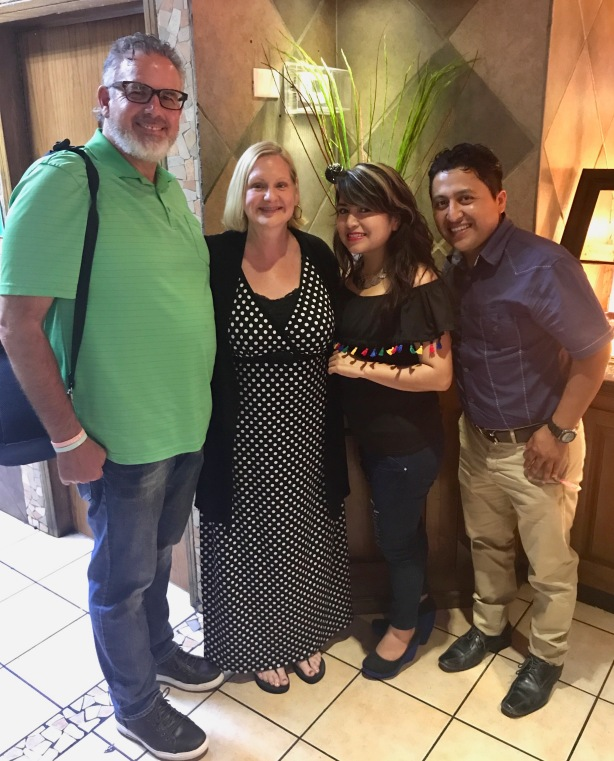 David & Dawn with Luz and Deivis. Wonderful friends and ministers of the gospel