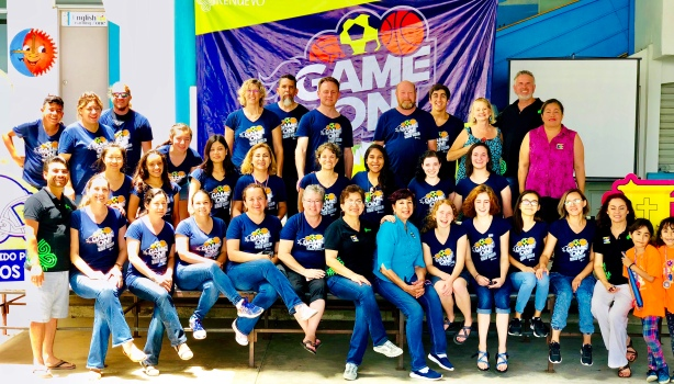 Our group of teachers and volunteers that ran the VBS