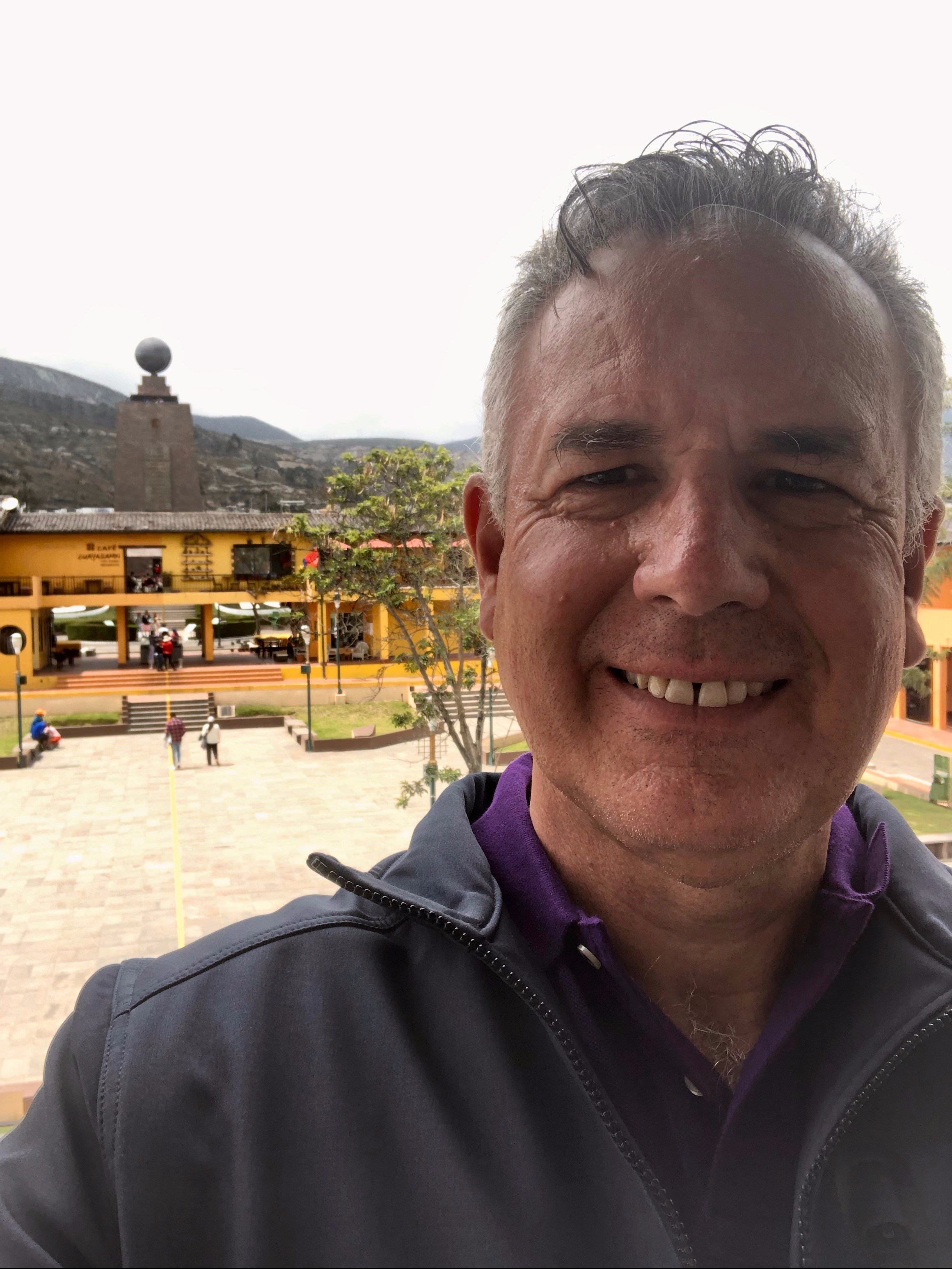 Dave in Quito - The Middle of the World
