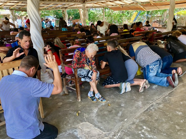 Prayer in Camaguey. These people are warriors!