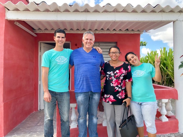 Dave with Mario & Yani and Sara who is married to Pastor Justo. Justo and Sara are also great friends who train others to plant churches in Cuba!