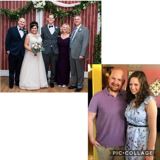 Our growing family - Jonathan & Hannah's wedding. David & Emily's wedding shower